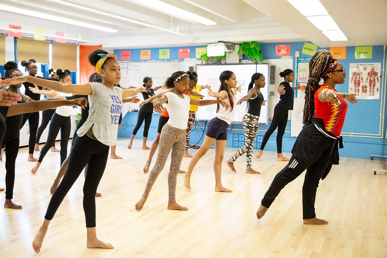 Children in dance class