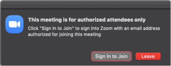 Unauthorized user notification