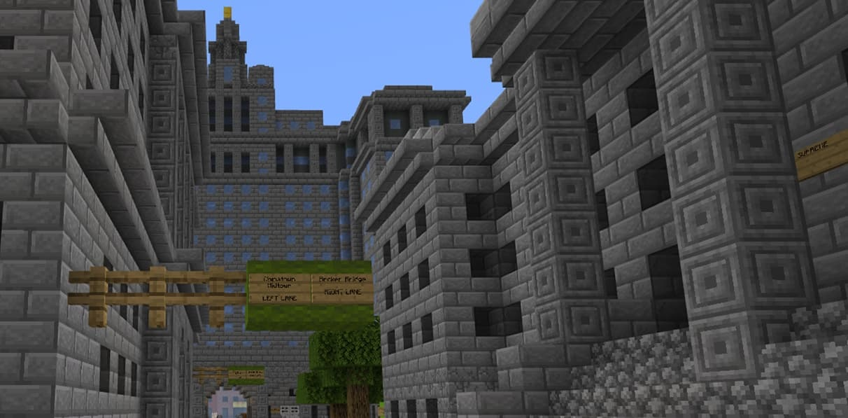 Chambers Street in minecraft